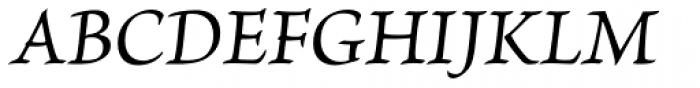 Brioso Pro Caption Italic Font UPPERCASE