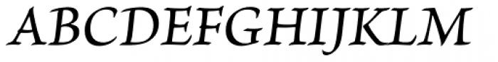 Brioso Pro Caption Medium Italic Font UPPERCASE