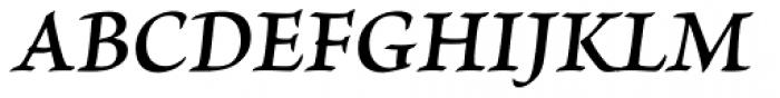 Brioso Pro Caption SemiBold Italic Font UPPERCASE