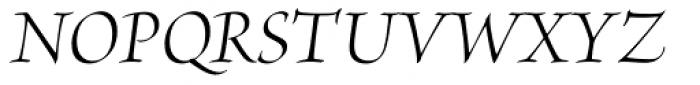 Brioso Pro Display Italic Font UPPERCASE