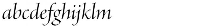Brioso Pro Display Italic Font LOWERCASE
