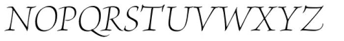 Brioso Pro Display Light Italic Font UPPERCASE