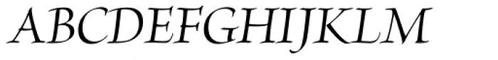 Brioso Pro Display Medium Italic Font UPPERCASE