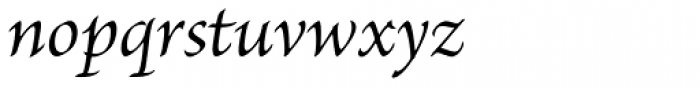 Brioso Pro Italic Font LOWERCASE