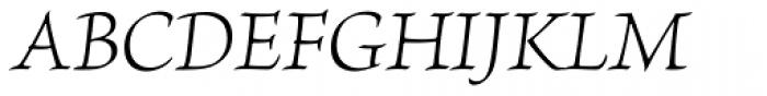 Brioso Pro Light Italic Font UPPERCASE