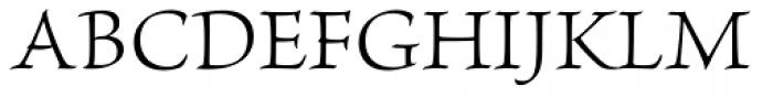Brioso Pro Light Font UPPERCASE