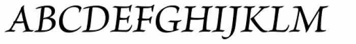 Brioso Pro Medium Italic Font UPPERCASE