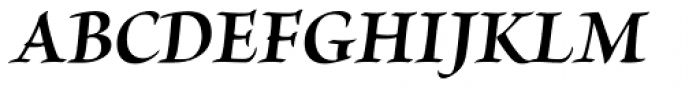 Brioso Pro SubHead Bold Italic Font UPPERCASE