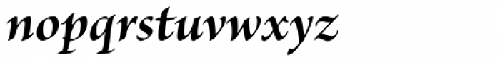 Brioso Pro SubHead Bold Italic Font LOWERCASE
