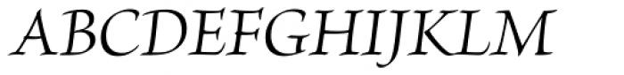 Brioso Pro SubHead Italic Font UPPERCASE