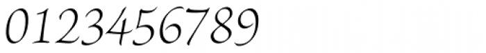 Brioso Pro SubHead Light Italic Font OTHER CHARS