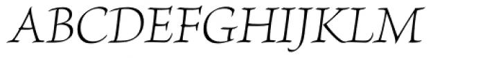 Brioso Pro SubHead Light Italic Font UPPERCASE
