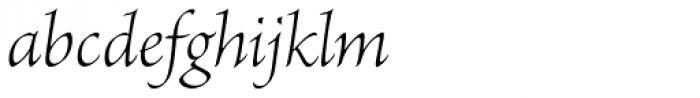 Brioso Pro SubHead Light Italic Font LOWERCASE