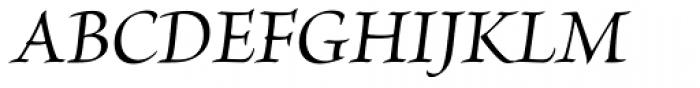 Brioso Pro SubHead Medium Italic Font UPPERCASE