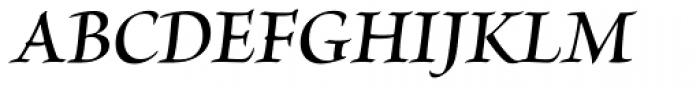 Brioso Pro SubHead SemiBold Italic Font UPPERCASE