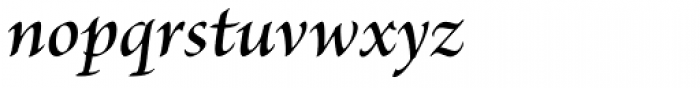 Brioso Pro SubHead SemiBold Italic Font LOWERCASE