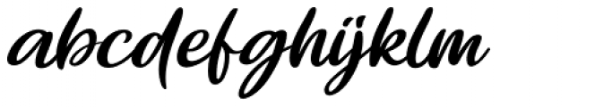 Brisbane Regular Font LOWERCASE