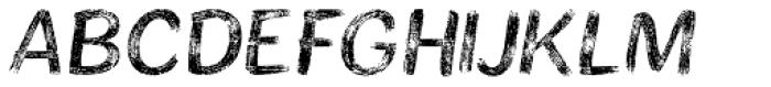 Bristles Font UPPERCASE