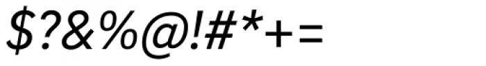 Brix Sans Italic Font OTHER CHARS