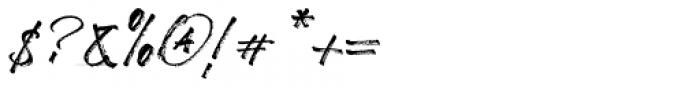 Broader Regular Font OTHER CHARS