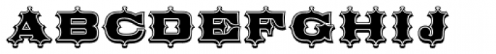 Broadgauge Ornate Cond Font UPPERCASE