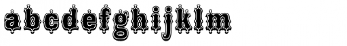 Broadgauge Ornate Xtra Cond Font LOWERCASE