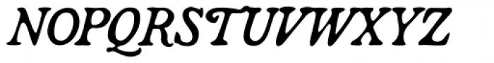 Broadsheet Lining Italic Font UPPERCASE