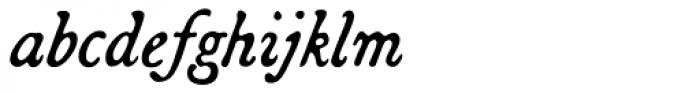 Broadsheet Lining Italic Font LOWERCASE