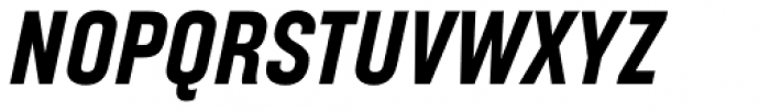 Broadside Bold Condensed Italic Font UPPERCASE