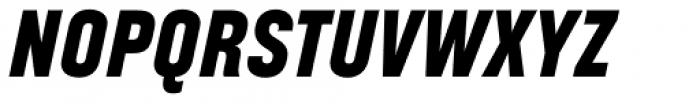 Broadside Heavy Condensed Italic Font UPPERCASE