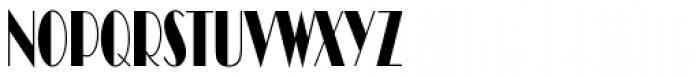 Broadway Compress D Font UPPERCASE