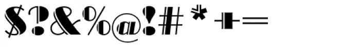 Broadway EF Engraved Font OTHER CHARS