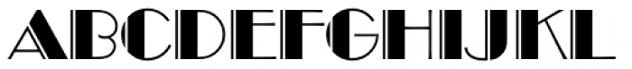 Broadway Engraved D Font UPPERCASE