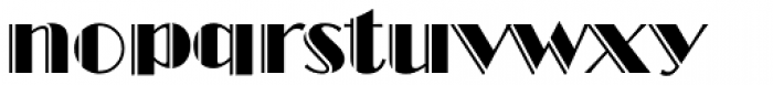 Broadway Engraved D Font LOWERCASE