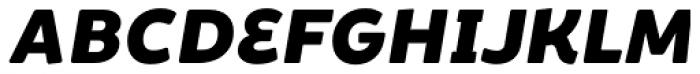 Brocha Alt Black Italic Font UPPERCASE