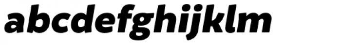 Brocha Alt Black Italic Font LOWERCASE