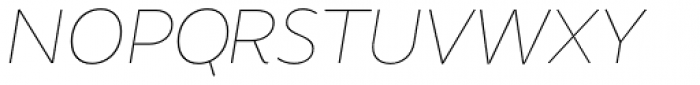 Brocha Alt Hair Italic Font UPPERCASE