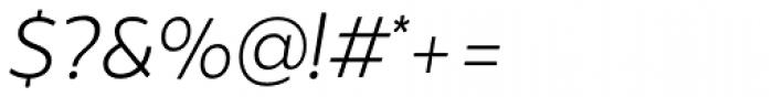 Brocha Alt Light Italic Font OTHER CHARS