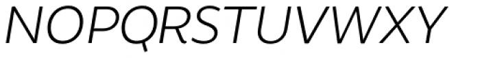 Brocha Alt Light Italic Font UPPERCASE