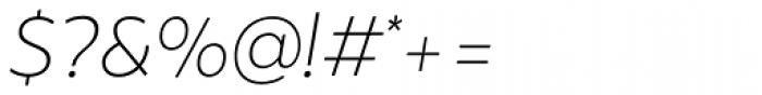 Brocha Alt Thin Italic Font OTHER CHARS