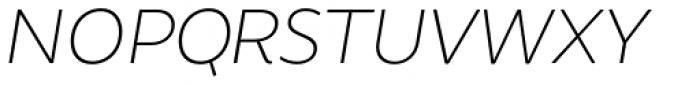 Brocha Alt Thin Italic Font UPPERCASE
