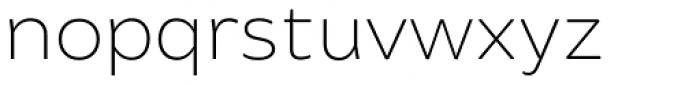 Brocha Thin Font LOWERCASE