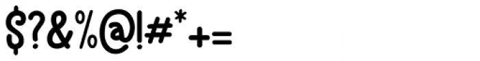 Brochette Regular Font OTHER CHARS