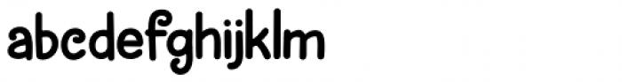Brochette Regular Font LOWERCASE