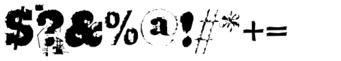 Broken Font OTHER CHARS