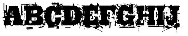 Broken Font UPPERCASE