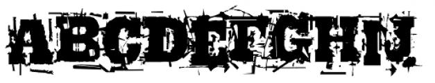 Broken Font LOWERCASE