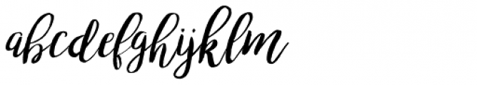 Bromello Italic Font LOWERCASE