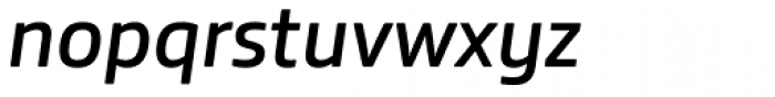Bronkoh SemiBold Italic Font LOWERCASE