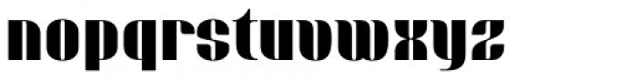 Bronsimard Black Font LOWERCASE